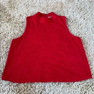 Red Anthropologie top